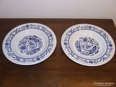 Régi virág mintás francia tányér, 2db