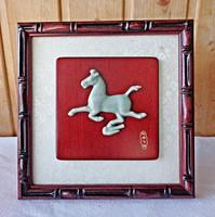 Ázsiai asztali porcelán ló kép dobozában