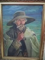 Kvalitásos festmény Klimó István 1918