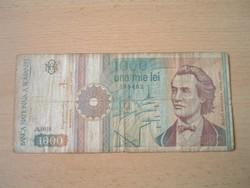 ROMÁNIA 1000 LEI 1991 A. SZÉRIA