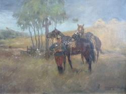 Lengyel-Rheinfuss Ede  eredeti olajfestmény