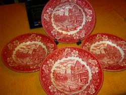 4 db angol mély tányér postakocsis Royal