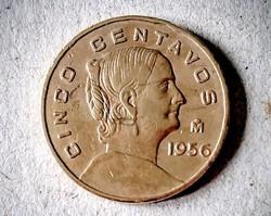 Mexico 1956 5 centavos