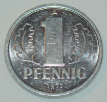 1 Pfennig - Kelet-Németország - 1977.