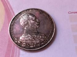 1913 ezüst 3 márka gyönyörű patinás darab 16,67 gramm 0,900