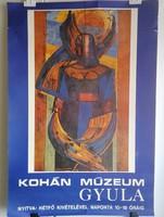 Kohán György alkotása múzeumi plakáton