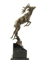 Monumentális bronz szobor - Ugró Szarvas