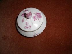 HERENDI  virág mintás, rózsa fogós  ékszertartó dobozka