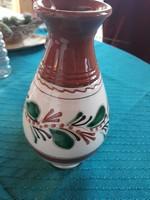 Népi kerámia váza 20,5 cm