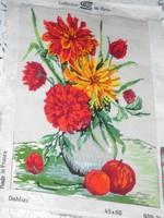Kivarrt francia gobelin falikép. 49x36 cm.