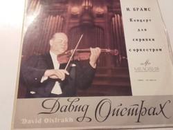 David Oistrakh  Johannes Brahms Concerto for violin and orchestra in D major,op.77-Bakelit lemez