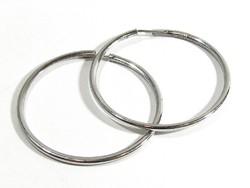 Ezüst karika fülbevaló(Kecs-Ag66008)