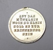 Régi német ezüst medál.