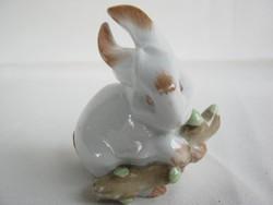 Zsolnay porcelán barkás nyuszi