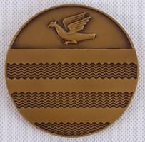 AE16 Szocreál emlékérem bronz plakett