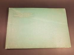 BAZ megyei rézkarc gyűjtemény 14 db szocreál alkotás