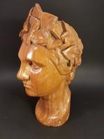 Életnagyságú női büszt szobor 1920-ból