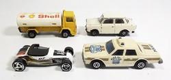 4 darab vegyes autó , Trabant , kamion , üzemanyag szállító