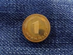NSZK 1 Pfenning 1989 F, ritkább tükörfényes veret! (id4657)