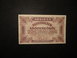 100000 adópengő 1946  fehér papíron.Extraszép, hajtatlan!