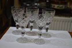5 darab talpas kristály pohár