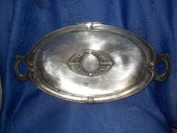 Antik ezüstözött jugendstil kínáló asztalközép