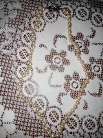 Gyönyörű, antik tekla gyöngy nyaklánc ezüst kapoccsal