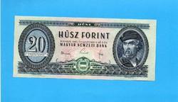Hajtatlan  !!!!  Unc !!!!  20 Forint 1965