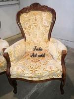 Neobarokk plüsskárpitos fotel!