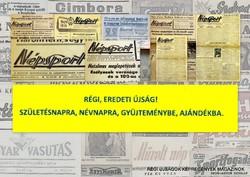 1960 március 11  /  Népsport  /  SZÜLETÉSNAPRA RÉGI EREDETI ÚJSÁG Szs.:  4842