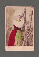 GÖSTA FLORMAN , STOCKHOLM 1870-79, SZÍNEZETT KABINET FOTÓ