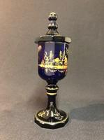XIX.sz.-i aranyozott üveg kehely