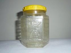 Retro MÉZ HUNGARONEKTÁR mézes műanyag flakon palack bödön - 1970-es évekből
