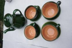 Túri fazekas teás készlet 4 személyre eladó.