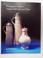 Sothebys : Európai kerámia, fajansz és üveg árverési katalógus 1998