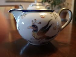Különleges Zsolnay Főnix tejkanna teás készlethez, hibátlan, új
