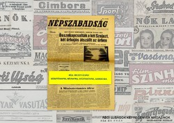 1980 március 25  /  NÉPSZABADSÁG  /  SZÜLETÉSNAPRA RÉGI EREDETI ÚJSÁG Szs.:  8113