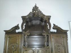 Tálaló,nagy,két részes,bécsi barokk,restaurált