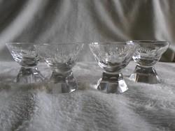 Art deco likőrös poharak 4 db együtt