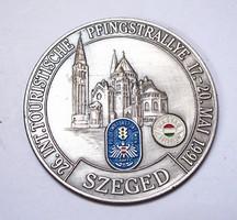 26. int.touristische pfingstrallye 1991 Szeged plakett.