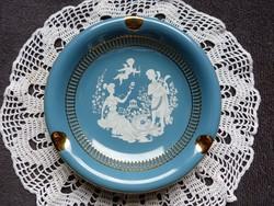 FIORENTINE kézzel festett aranyozott porcelán hamutál