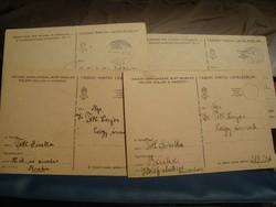 4 darab tábori posta levelező lapok