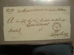 1867 EX offo levél MODERN-PRESSBURG 350 gudlin!!
