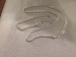 Ezüst lánc+karkötö garnitura