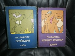 2db-os D. H. Lawrence könyvcsomag Szivárvány / Szerelmes asszonyok