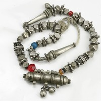 Régi ezüst tibeti? ima nyaklánc medállal/függővel
