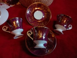 Csésze Német porcelán Alba Kunst - Alboth Kaiser kávés csészék - nagyon  aranyozottak