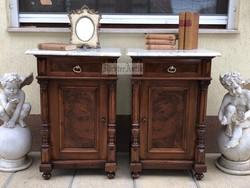 Antik bútor, Ónémet éjjeli szekrények felújított.