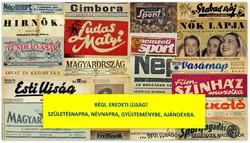 1988 február  /  fürge ujjak  /  SZÜLETÉSNAPRA RÉGI EREDETI ÚJSÁG Szs.:  4942