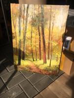 Hornyik Zoltán Erdei út című alkotása..kép,festmény
